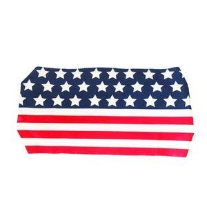 American flag athletic headband turban